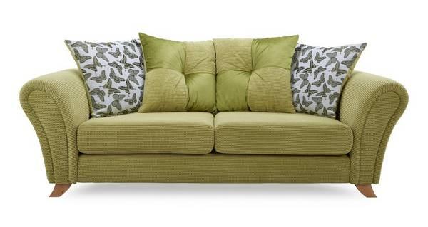 Flutter 3 Seater Pillow Back Sofa