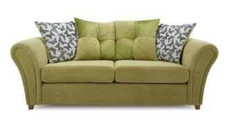 Flutter 3 Seater Pillow Back Deluxe Sofa Bed