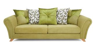 Flutter 4 Seater Pillow Back Sofa