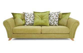 4 Seater Pillow Back Sofa Flutter