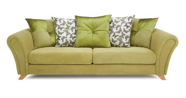 Flutter 4 Seater Pillow Back Sofa