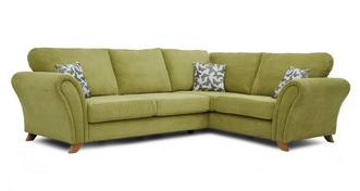 Flutter Left Hand Facing 3 Seater Formal Back Corner Sofa