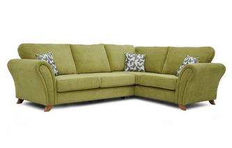 Left Hand Facing 3 Seater Formal Back Corner Sofa Flutter