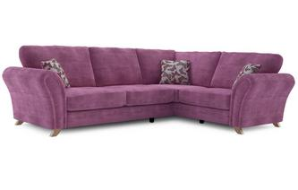 Flutter Left Hand Facing 3 Seater Formal Back Corner Sofa Flutter