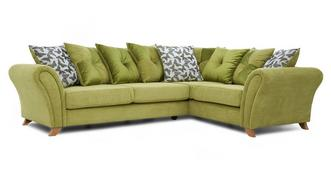 Flutter Left Hand Facing 3 Seater Pillow Back Corner Sofa