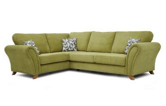 Right Hand Facing 3 Seater Formal Back Corner Sofa Flutter