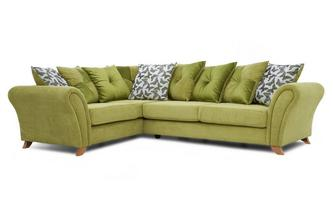 Right Hand Facing 3 Seater Pillow Back Corner Sofa Flutter