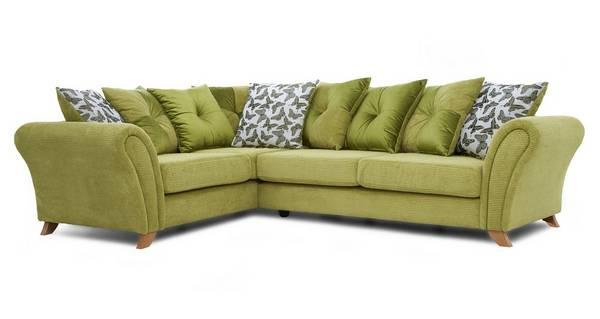 Flutter Right Hand Facing 3 Seater Pillow Back Corner Sofa