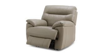 Flynn Leather and Leather Look Manual Recliner Chair