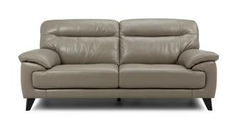 Flynn Leather and Leather Look 3 Seater Sofa