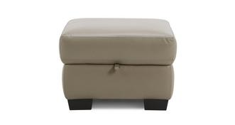 Flynn Leather and Leather Look Storage Footstool