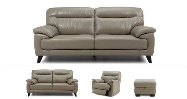 Flynn Clearance 3 & 2 Seater Sofas, Power Recliner Chair & Stool