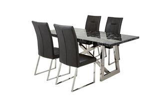 Rectangular Table & Set of 4 Chairs Fontella
