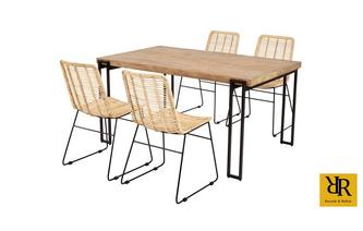 Rectangular Dining Table and Set of 4 Daniel Chairs