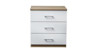 Fremont 3 Drawer Bedside Chest