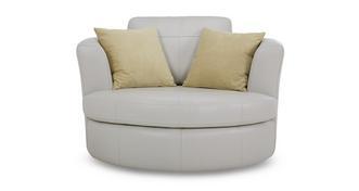 Freya Leather Large Swivel Chair