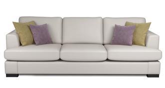 Freya Leather 4 Seater Sofa