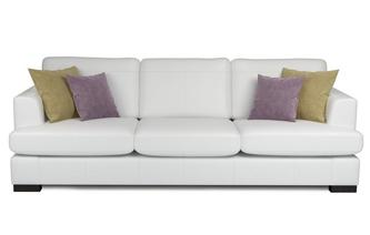 Freya Leather 4 Seater Sofa Beau