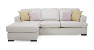 Freya Leather Left Hand Facing Chaise End Sofa