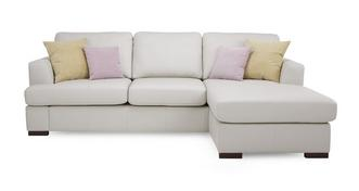 Freya Leather Right Hand Facing Chaise End Sofa