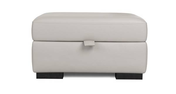 Freya Leather Large Storage Footstool