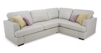 Freya Leather: Left Hand Facing 2 Piece Corner Sofa