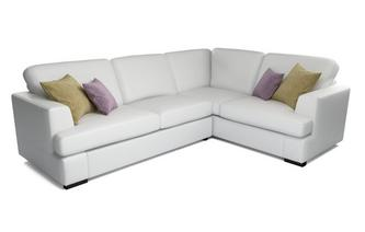 Freya Leather Left Hand Facing 2 Piece Corner Sofa Beau
