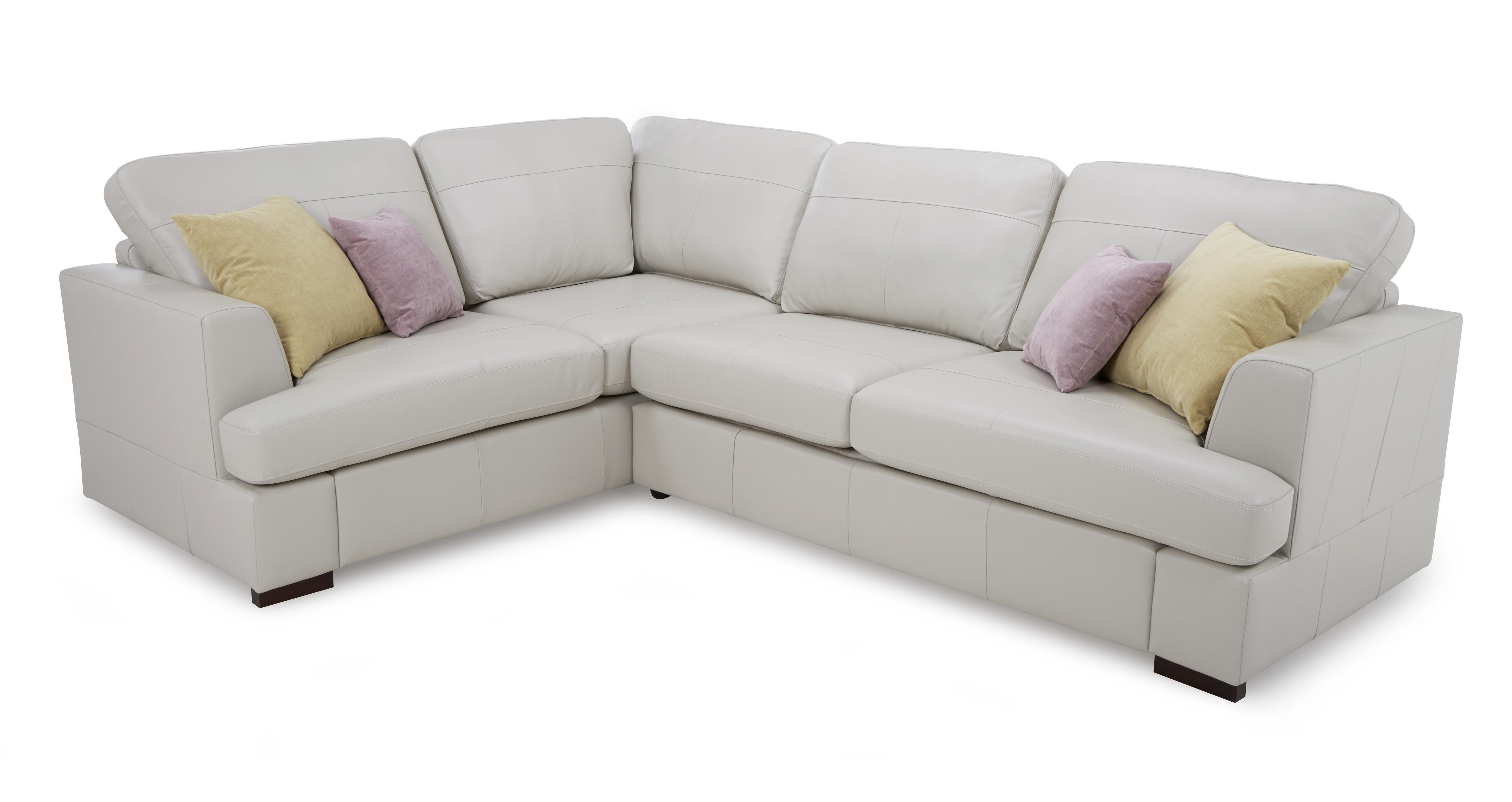 right hand facing leather corner sofa. Black Bedroom Furniture Sets. Home Design Ideas