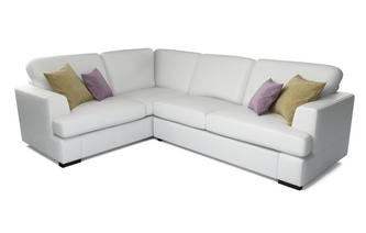 Freya Leather Right Hand Facing 2 Piece Corner Sofa Beau