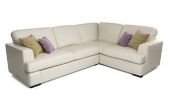 Freya Leather Left Hand Facing 2 Piece Corner Deluxe Sofa Bed Beau