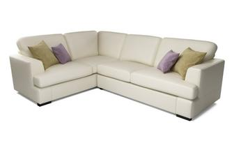 Freya Leather Right Hand Facing 2 Piece Corner Deluxe Sofa Bed Beau