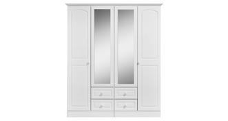 Frozen 4 Door 4 Drawer Mirror Robe