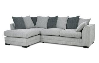 Pillow Back Right Hand Facing Arm Open End Corner Sofa