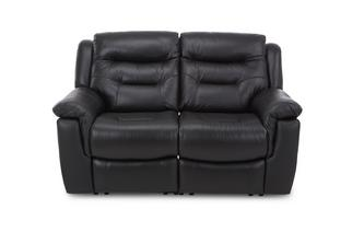 Leather and Leather Look 2 Seater Fixed Sofa