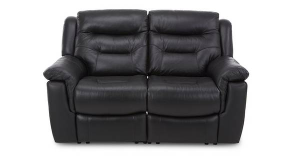 Garrick Leather and Leather Look 2 Seater Electric Recliner