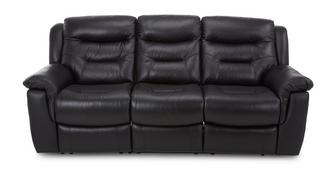 Garrick Leather and Leather Look 3 Seater Fixed Sofa