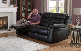 Garrick Leather and Leather Look 3 Seater Electric Recliner Essential