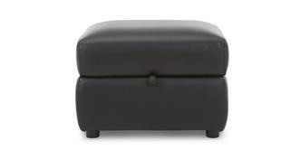 Garrick Leather and Leather Look Storage Footstool