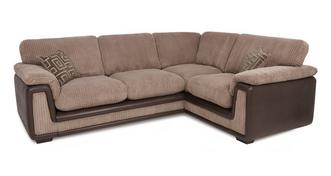 Genesis Left Hand Facing 2 Seater Formal Back Corner Sofa with Removable Arm