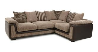 Genesis Left Hand Facing 2 Seater Pillow Back Corner Sofa