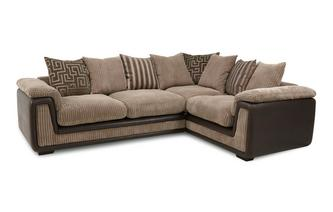 Left Hand Facing 2 Seater Pillow Back Corner Sofa Genesis