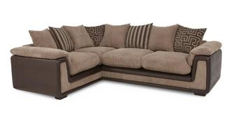 Genesis Right Hand Facing 2 Seater  Pillow Back Corner Sofa with Removable Arm