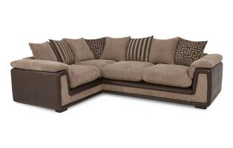 Right Hand Facing 2 Seater  Pillow Back Corner Sofa with Removable Arm Genesis