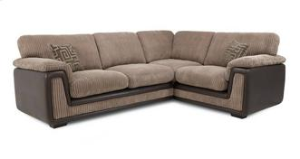 Genesis Left Hand Facing 2 Seater Formal Back Corner Deluxe Sofa Bed
