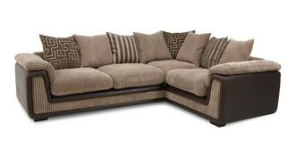 Genesis Left Hand Facing 2 Seater Pillow Back Corner Deluxe Sofa Bed