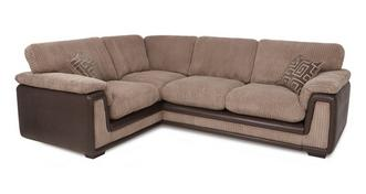 Genesis Right Hand Facing 2 Seater  Formal Back Corner Deluxe Sofa Bed with Removable Arm
