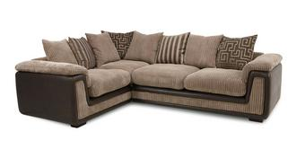 Genesis Right Hand Facing 2 Seater  Pillow Back Corner Deluxe Sofa Bed