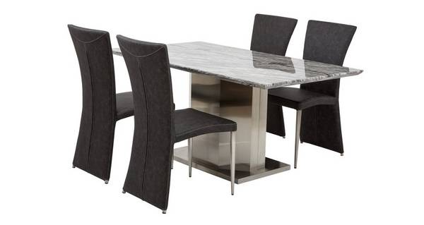 Genoa Dining Table & Set of 4 Chairs