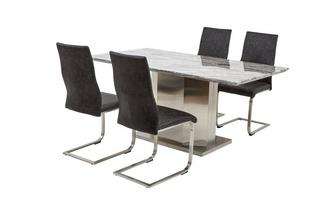 Dining Table & Set of 4 Cantilever Chairs