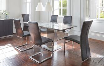 GXD Genoa Dining Table Set Of 4 Cantilever Chairs